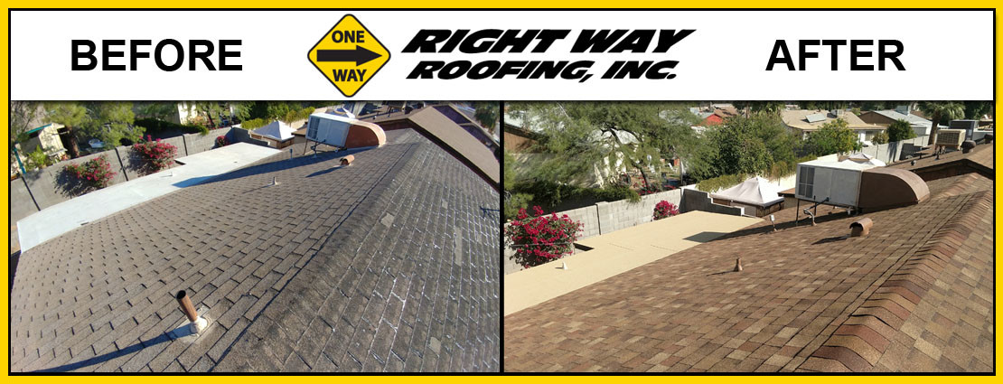 Before & After Shingle Roof Installation