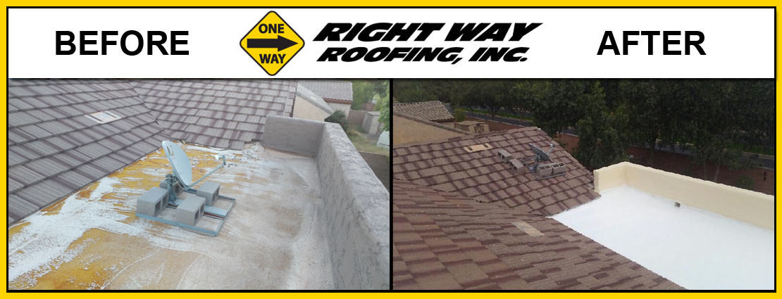 Before & After Spray Foam Roofing Installation