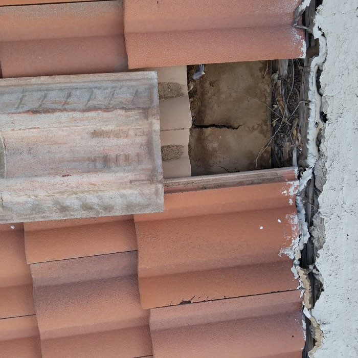 Tile Roof Problem - Damaged Roof Underlayement