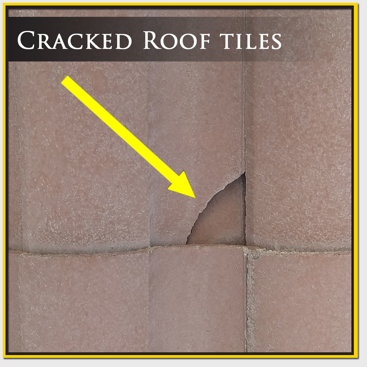 Cracked Roof Tile Repair Mesa