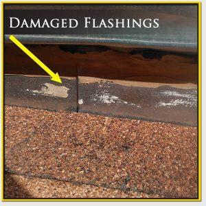 Damaged Roof Flashings