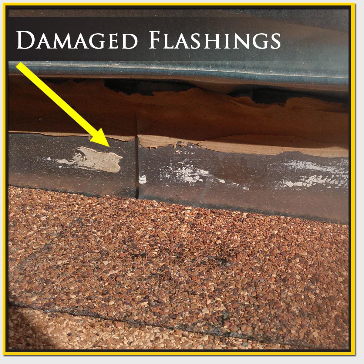 Damaged Roof Flashing Repair Mesa