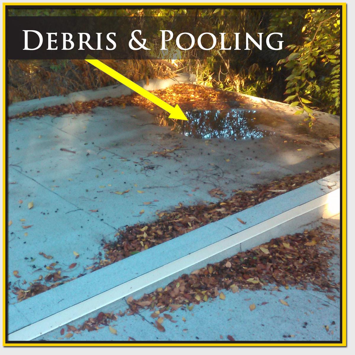 Roof Debris & Pooling Repair Mesa