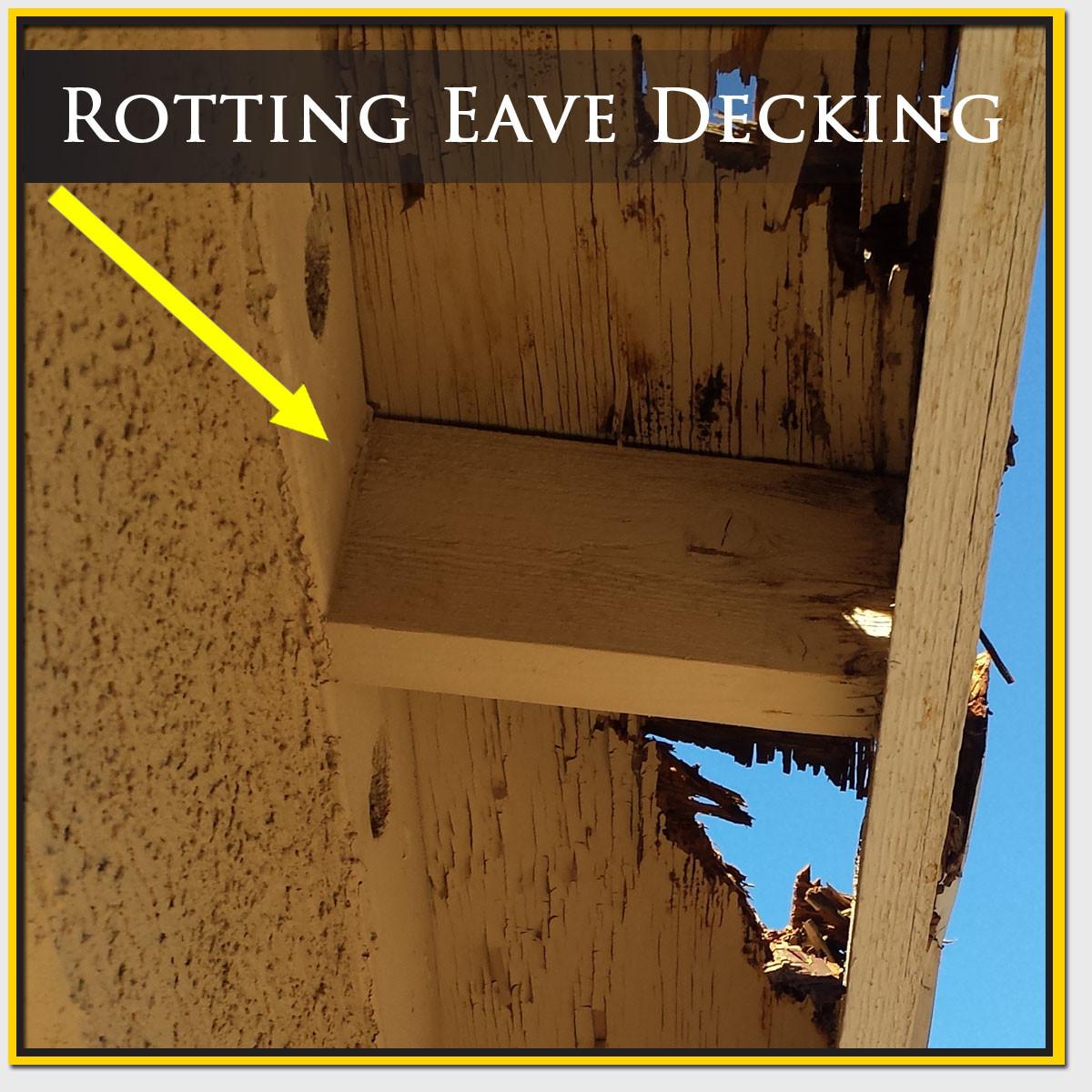 Rotting Eave Decking Repair Mesa