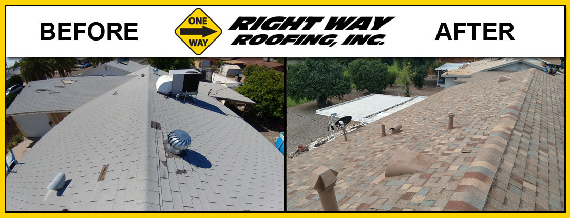 Before & After Roof Shingle Replacement