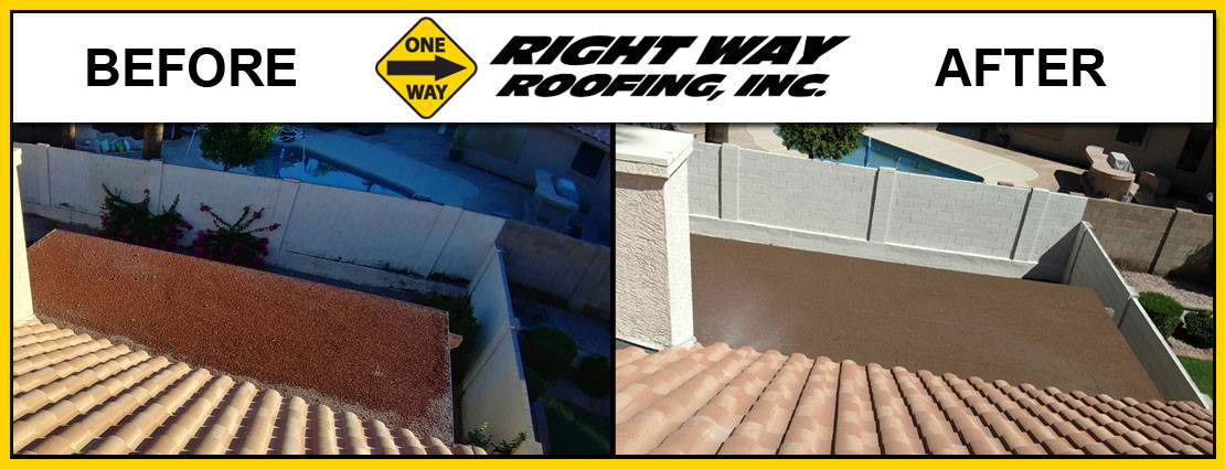 Flat Roof Repair Before & After Photo