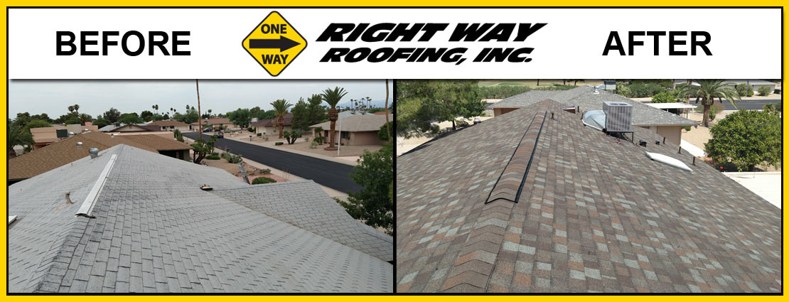 Shingle Replacement Before & After Photo