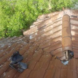 Tile Roof Problem - Debris On Tile Roof & Missing Tiles - Small