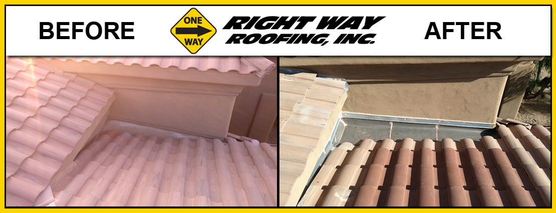 Tile Roof Replacement Before & After