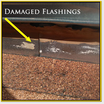 Damaged Roof Flashing Repair Mesa