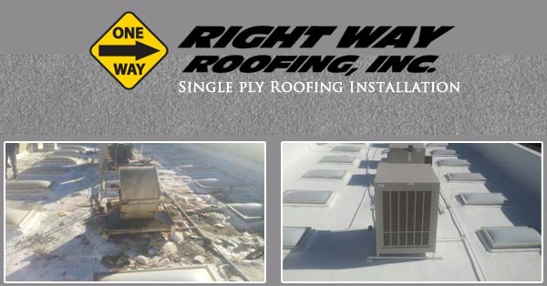 Single Ply Roofing Installation Repair