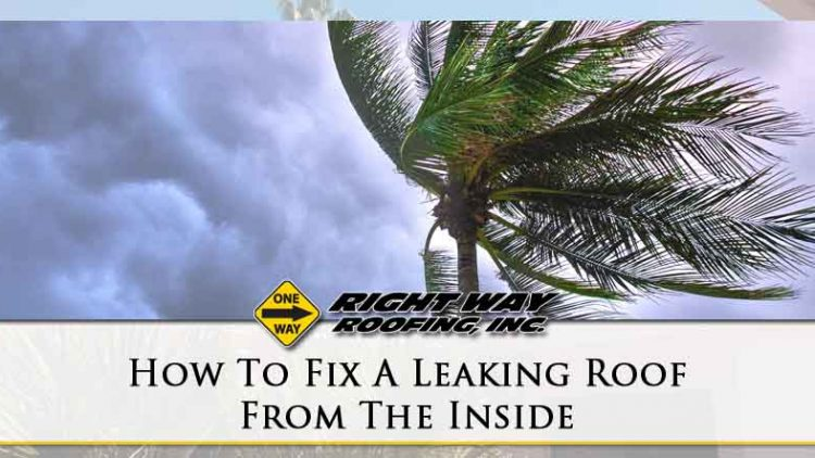 How To Fix A Leaking Roof From The Inside Right Way Roofing Inc