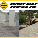 Shingle Roof Installation Before & After Photo
