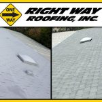 Shingle Roof Replacement Before & After