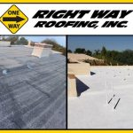 Commercial Spray Foam Roofing Coating Before & After Photo