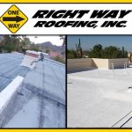 Residential Spray Foam Roofing Coating Before & After Photo