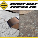 Shingle Roof Replacement Before & After Photo